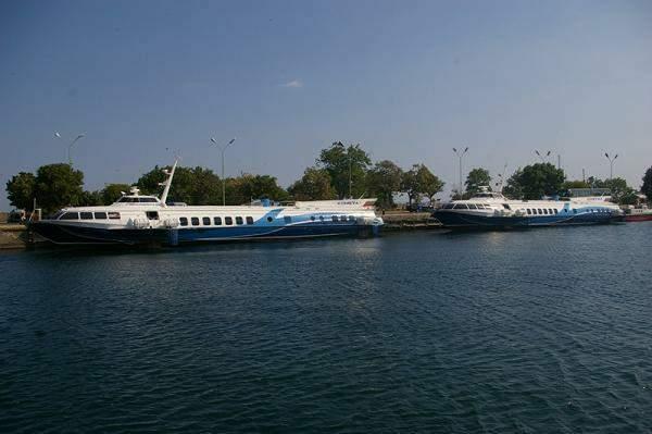 Comets - hydrofoil sea boats on wings in the Black Sea, Bulgaria
