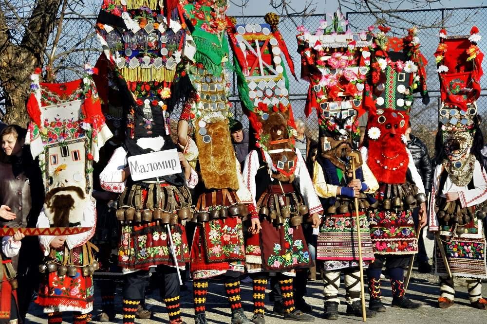 зимние фестивали кукеры болгария